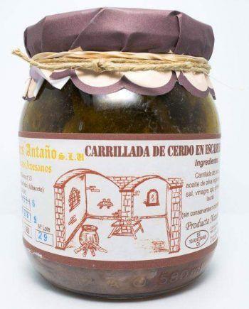 Escabeche artesano de Carrillada de cerdo