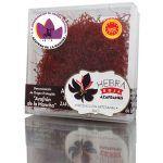 3517Azafrán de Albacete en tarro de vidrio con tapón de corcho «Hebra Roja»