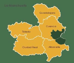 Provincias de vinos DO Manchuela