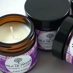Cosmética natural vela para masajes