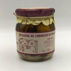 Escabeche artesano de Muslitos de Codorniz